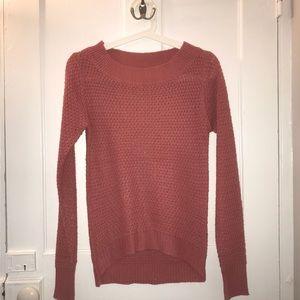 Salmon pink knit sweater